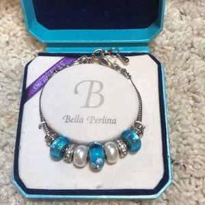 Bella Perlina nib aqua bracelet